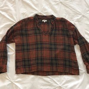 Madewell plaid popover shirt